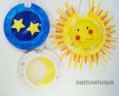 Sonne, Mond und Sterne Latern basteln mit Kinder. http://bastelnmitkids.de/