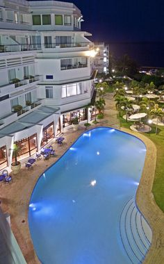 Pool at night Maputo, Hotels And Resorts, Luxury Hotels, Hotel Pool, Grand Hotel, Africa Travel, Places To Go, Around The Worlds, Vacation