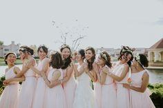 Blush wedding inspo. Blush Weddings, Unique Weddings, Bridesmaid Dresses, Wedding Dresses, Flower Girl Dresses, American, Photography, Beautiful, Fashion