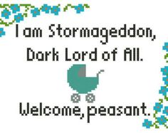 Stormageddon: Doctor Who Baby Cross-Stitch Pattern Download