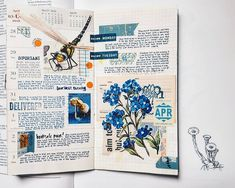 For posterity: Week 13. A deviation from my usual full-page sprawls of flora, and it was a curious challenge, and I remember not liking this so much while I was making it. But I'm quite fond of it now; I like how it's different, I like how the words crept to places they usually aren't in.