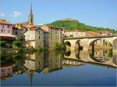 Saint Antonin Noble Val across the River Aveyron