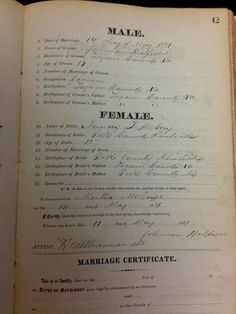 Johnson Hatfield/Martha McCoy marriage certificat signed by Hatfield Got Family Tree, Family Tree Images, Family Feud, Family History, Family Trees, Family Photos, Johnse Hatfield, Hatfield And Mccoy Feud