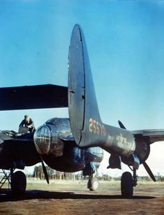 P-61A Black Widow night fighter serial 5510. This aircraft was condemned as salvage on July 27,1944.
