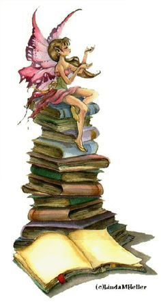There are some books with fairies....
