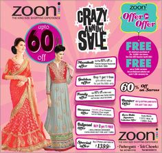 Nothing can cheer you up as easily as shopping during a sale. Avail upto 60% off at Zooni's Annual #Sale!  #BigSale #Zooni