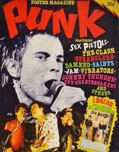 Original 1977 PUNK poster mag Sex Pistols Clash Damned Jam Stranglers etc. Rock Posters, Band Posters, Concert Posters, Music Posters, Arte Punk, Punk Art, Punk Magazine, Punk Poster, Pop Rock