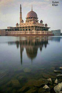 Beautiful Putra Mosque Kuala Lumpur city Malaysia