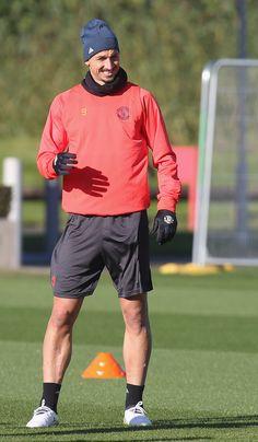 Zlatan Ibrahimovic in training for @manutd.