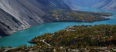 Atta abad Lake (Newly formed due to heavy land slide on Hunza river)