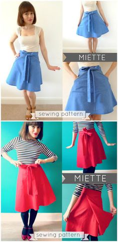 Lovely skirts ~ sewing patterns available ~ from Handmade by Jane