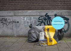 Goedzak - The Garbage Bag Atlantis, Guerrilla Advertising, Sustainable Environment, Transparent Bag, Urban City, Worlds Of Fun, Organization Hacks, Industrial Design, Reuse
