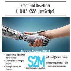 Javascript Reference, Job Posting, Melbourne, Leadership, Innovation, Career, Management, Technology, Digital
