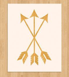 Gold Arrows Art Print