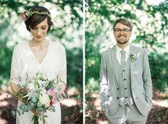 vintage wedding + boho wedding