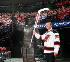 Martin Brodeur Signed New Jersey Devils Retirement Photo Steiner Sports Nhl Jerseys, Hockey Teams, Ice Hockey, Vip Sports, Martin Brodeur, Nhl News, New Jersey Devils, Magic Johnson, Larry Bird