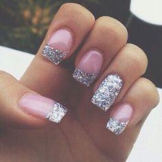 Nails  Glitter  French