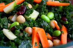 Packs a Punch Kale salad (high protein, vegetarian)