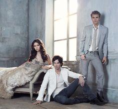 Nina Dobrev, Ian Somerhalder, Paul Wesley.   #Gorgeous #Actors #Style #Vampire