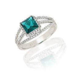 Aquamarine Sparkles Ring