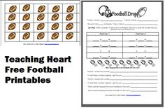 It's coming this weekend. I have 2 free football themed printables you may want to use this week. One is a rhyming color a rhyme sheet and one is a math fact drop game. Click here to check them both out!