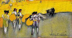 Pablo Picasso - La corrida de toros, 1900 at Museo Nacional Centro de Arte Reina Sofía - Madrid Spain