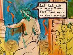 Archie Rand's biblical paintings on view through Saturday at Cleveland State University's galleries at Playhouse Square zing the eye with color, fresh meaning an an irreverently relevant take on holy scripture.