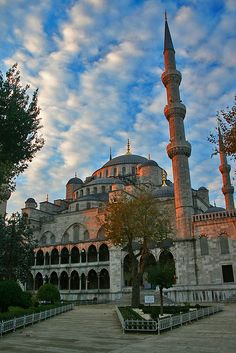 Blue Mosque (also known as Sultan Ahmed Mosque), a must see in Istanbul, Turkey. http://exploretraveler.com http://exploretraveler.net