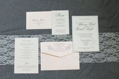 Formal Blush Pink and Silver Pocket Wedding Invitation - Florence and Russell - $7.00    Invited by LamaWorks - every invitation deserves to be custom  www.invitedbylamaworks.com