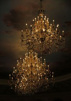 candle lit chandelier - Google Search