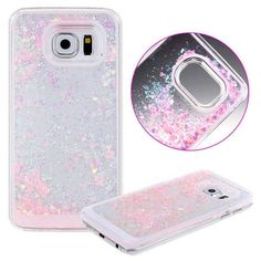 New 2016 Lovely Glitter Star Liquid Cartoon Characters Transparent Back Hard Protection Cover Case For Samsung Galaxy S6 G9200 Discounts Sale Home