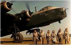 A very cool old Stirling Bomber and her crew.