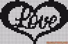 Alpha friendship bracelet pattern added by animechild. Pearler Bead Patterns, Bead Loom Patterns, Perler Patterns, Beading Patterns, Graph Crochet, Pixel Crochet, Cross Stitch Designs, Cross Stitch Patterns, Embroidery Alphabet