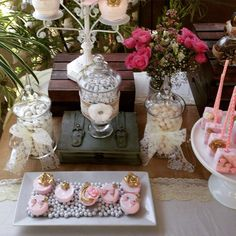 Karla's Surprise Shabby Chic Birthday Party  | CatchMyParty.com