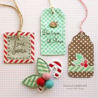 adorable gift tags - leave back white and write name om it or use name embroidered on fabric
