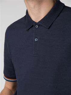 Mix Collar Polo Shirt
