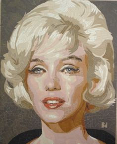 Marilyn Monroe by bd2 [a ceramic mosaic portrait] (posted on Stars Portraits Site)  || This image first pinned to Marilyn Monroe Art board, here: http://pinterest.com/fairbanksgrafix/marilyn-monroe-art/ ||