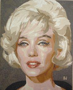 Marilyn Monroe #portrait #mosaic #art