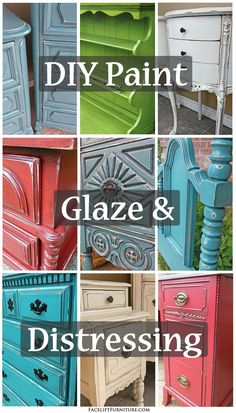 Do it yourself paint, glaze & distressing. How you can give your furniture a whole new life! #AnnieSloan #DIY
