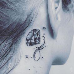 Diamonds Tattoo, Berlin Tattoo, Tattoos For Women Small, Tatoos, Ear, Instagram, Diamond, Bodypainting