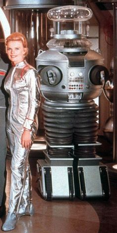 B9 ROBOT from LOST IN SPACE (original image cropped & color corrected).