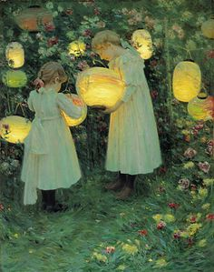 Japanese Lanterns, Luther Emerson Van Gorder,1895. Obviously an homage to the Sargent piece painted 10 years earlier.