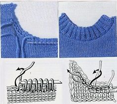 p/stricken-pullover-halsausschnitt-maschen-aufnehmen-carola delivers online tools that help you to stay in control of your personal information and protect your online privacy. Knitting Help, Knitting Stiches, Knitting Yarn, Crochet Stitches, Hand Knitting, Knitting Machine, Knitting Needles, Knitting Patterns, Crochet Patterns