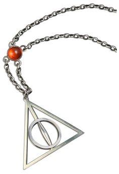A Deathly Hallows necklace.  Nice.