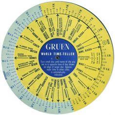 World time teller wheel
