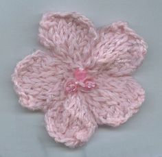Knit a Flower Embellishment
