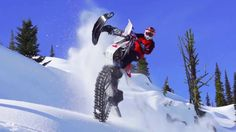 Ronnie Renner Snow Biking in Canadian Backcountry