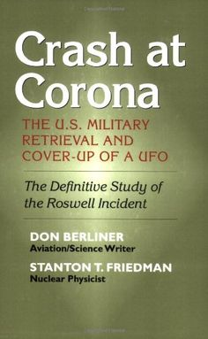 """One of the more credible books arguing the existence of UFOs...Most arresting of all is the testimony of those who handled the debris, who had no opportunity to compare notes, yet have described the materials...in almost identical language."" ---Publishers Weekly"