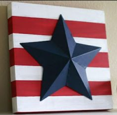 Quick, easy patriotic crafts & #diy projects -  for 4th of July, Memorial day weekend, the olympics, veteran's day, etc