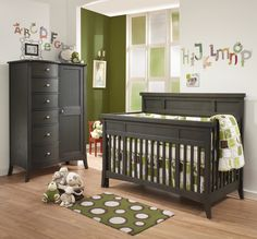 Natart London Collection in Dusk finish - Natart is a Greenguard Certified manufacturer, Low VOC cribs & furniture - 100% solid wood construction - Made in Canada | Baby & Nursery Furniture